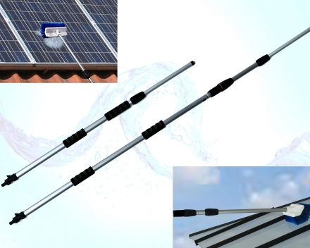 Distributor of aluminium water fed telescopic poles