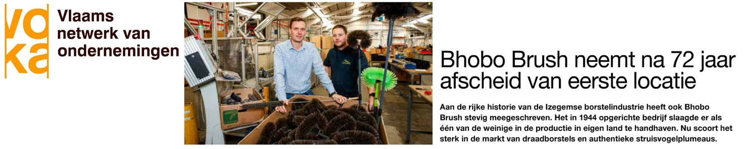 Voka entrepreneurs magazine visits bhobo brush